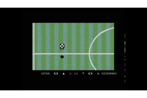 Microprose Soccer (Commodore 64) - YouTube