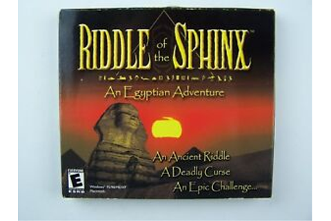 Riddle of the Sphinx: An Egyptian Adventure PC CD Game New ...