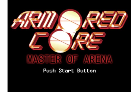 Armored Core: Master of Arena (1999) by From Software PS game