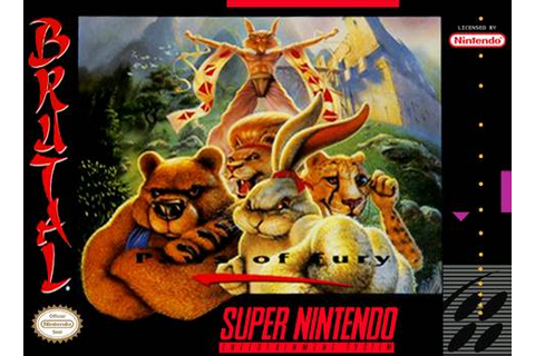 Brutal Paws of Fury SNES Super Nintendo