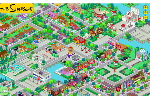 simpsons springfield map - Google Search | TSTO | Simpsons ...