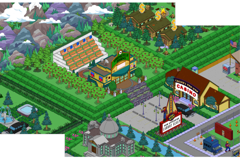 Casino/Springfield Downs | TSTO Design | The simpsons game ...