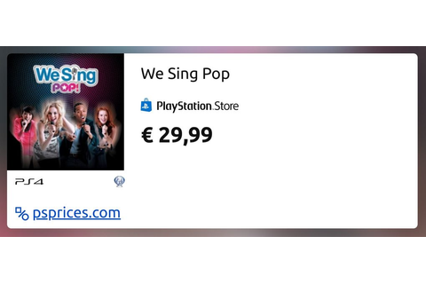 We Sing Pop for PS4 — buy cheaper in official store ...