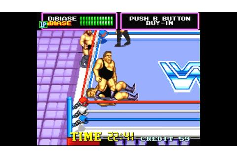 WWF Superstars Arcade Andre the Giant vs Andre w/ Million ...