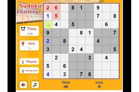 Game Sudoku Challenge - YouTube