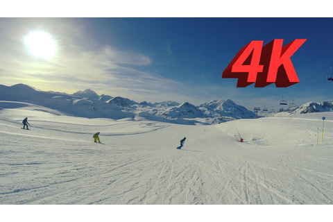 4K Tignes & Val d'Isere Snowboarding And Skiing 2017 ...