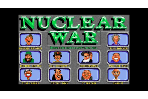 Let's Play: Nuclear War (Amiga) - YouTube