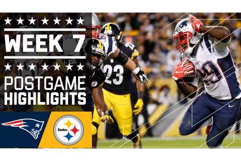 Patriots vs. Steelers | NFL Week 7 Game Highlights - YouTube