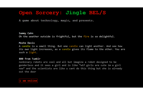Open Sorcery: Jingle BEL/S on Steam