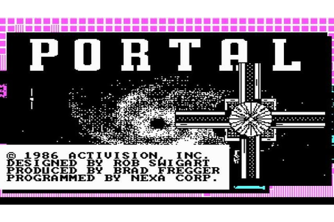 Portal gameplay (PC Game, 1986) - YouTube