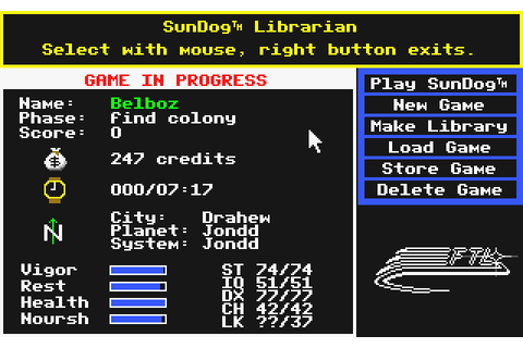 Download Sundog: Frozen Legacy (Atari ST) - My Abandonware