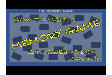 MAKE A MEMORY GAME ON POWERPOINT (without VBA) - Part 3 ...