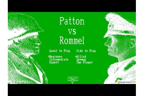 Patton vs Rommel - 1986 PC Game, gameplay - YouTube