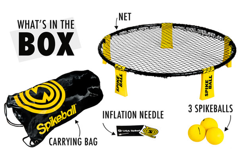 Spikeball: Energetic game combining volleyball and four ...