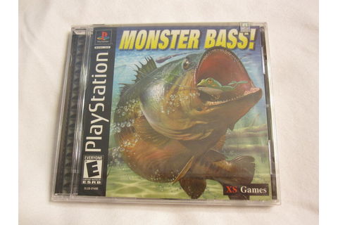 MONSTER BASS! PLAYSTATION PS1 GAME BRAND NEW SEALED ...