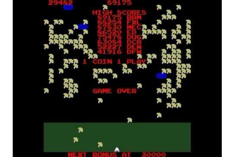 MILLIPEDE ARCADE CLASSIC RETRO MAME VIDEO GAME ATARI 1982 ...