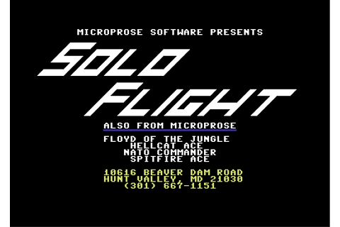 Download Solo Flight - My Abandonware