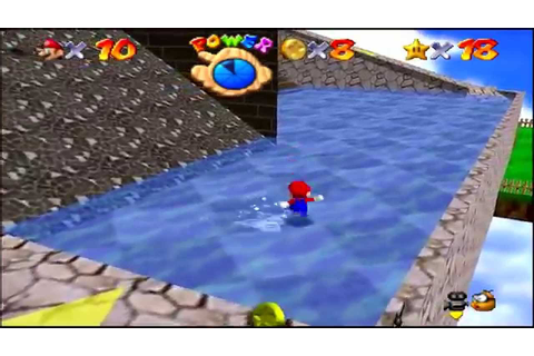 Super Mario 64 (N64) Whomp's Fortress Star #6 Blast Away ...