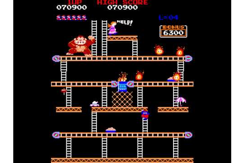 Arcade Game: Donkey Kong (1981 Nintendo) - YouTube