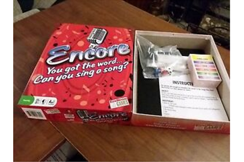 Encore Song Filled Sing Off Board Game Music Party Endless ...