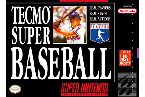 Tecmo Super Baseball SNES Super Nintendo