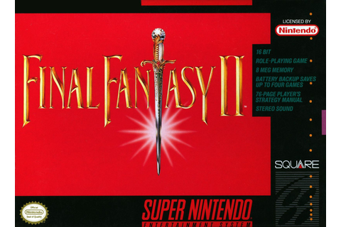 Final Fantasy II 2 SNES Super Nintendo