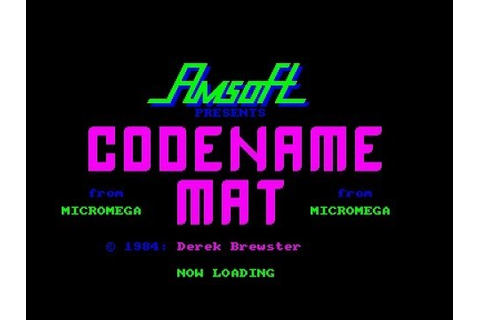 Codename Mat Review for the Amstrad CPC by John Gage - YouTube