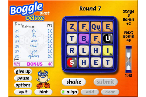 Boggle Game Download | Screenshot #3 | ChocoSnow.com