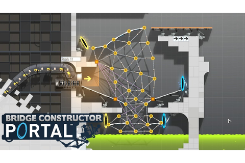 BRIDGE CONSTRUCTOR PORTAL - Level 36 to 39! (Gameplay ...