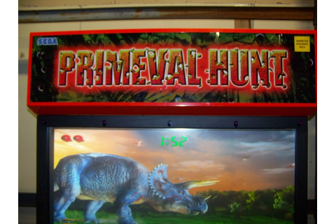 PRIMEVAL HUNT DX SHOOTER ARCADE GAME SEGA Item is in used ...
