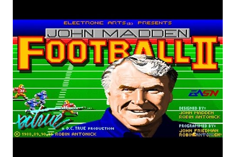John Madden Football II gameplay (PC Game, 1991) - YouTube