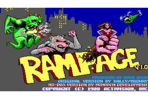 Rampage gameplay (PC Game, 1987) - YouTube