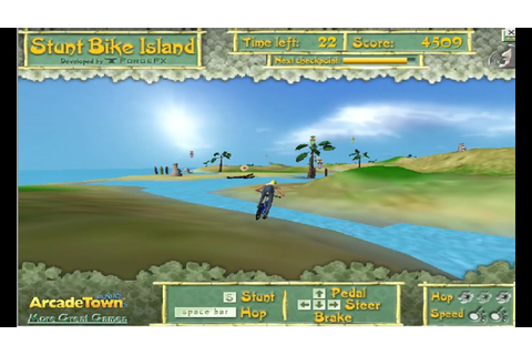 Stunt Bike Island (Windows game 2006) - YouTube