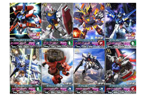 Free GundamTry-Age cards with happy meal! | JapAnimeShop