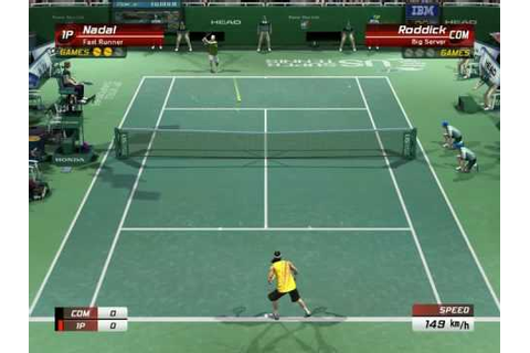 Virtua Tennis 3 PC - Nadal vs Roddick Gameplay - YouTube