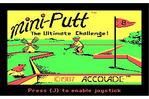Mini-Putt Download (1987 Sports Game)