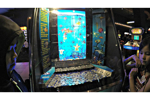 Coin Pusher Deep Sea Treasure Arcade Game At Dave & Buster ...