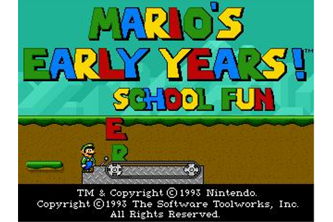 Mario's Early Years! Preschool Fun Download (1993 ...