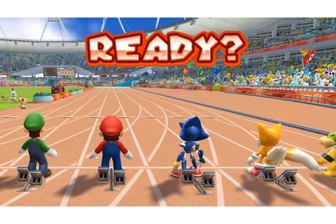 Mario and Sonic at the London 2012 Olympic Games - 100m ...