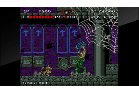 Arcade Archives Haunted Castle PS4 pro stage 1 medusa ...
