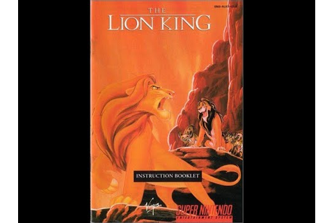 The Lion King (video game) - Game Manual (SNES ...