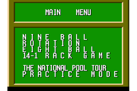Break Time: The National Pool Tour Screenshots | GameFabrique