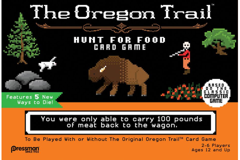 The Oregon Trail: Hunt for Food Card Game | Board Game ...