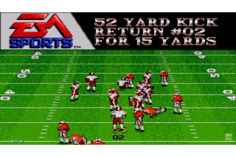 Bill Walsh College Football Sega Genesis Gameplay HD - YouTube