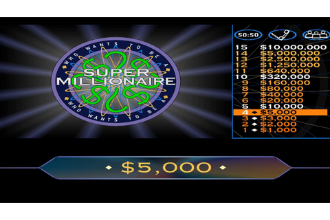 Who Wants To Be A Super Millionaire Gameplay #2 - YouTube