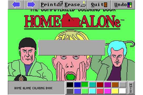 Home Alone: The Computerized Coloring Book (MS-DOS) - YouTube