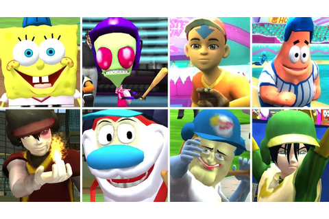 Nicktoons MLB All Characters + All Stadiums (Wii) - YouTube