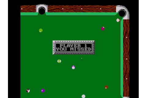 Championship Pool (Nintendo NES) - YouTube