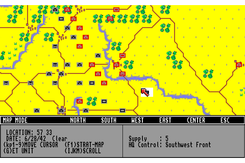 Second Front: Germany Turns East (1990) by SSI Amiga game