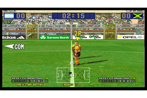VIRTUA STRIKER 2 Ver 99.1 Jamaica牙買加 PART.1 SEGA 1998 ...